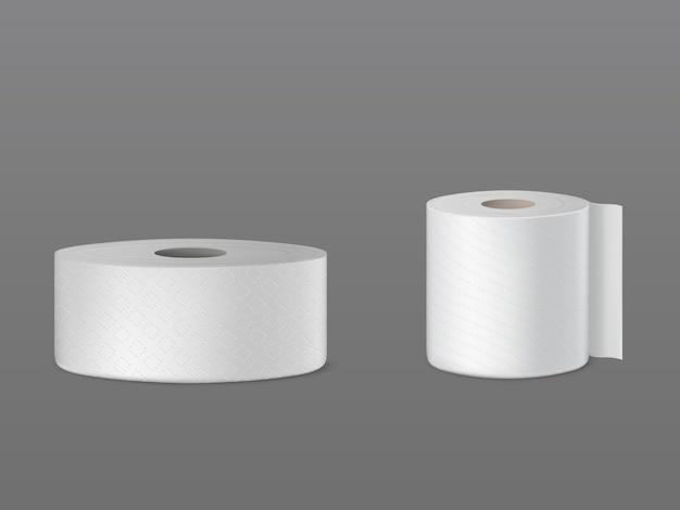 Geperforeerde rollen wc-papier, wegwerp keukendoeken, wisser voor stofreiniging