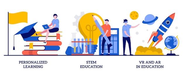 Gepersonaliseerd leren, basisonderwijs, vr en ar in onderwijsconcept met kleine mensen