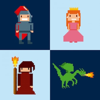 Gepixelde videospelpictogrammen