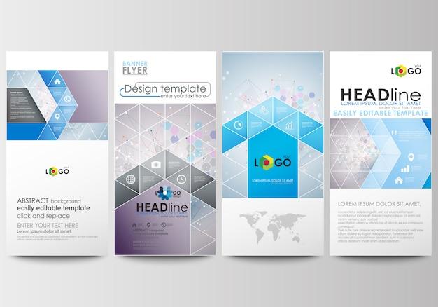 Geplaatste vliegers, moderne banners. zakelijke sjablonen. ontwerpsjabloon cover