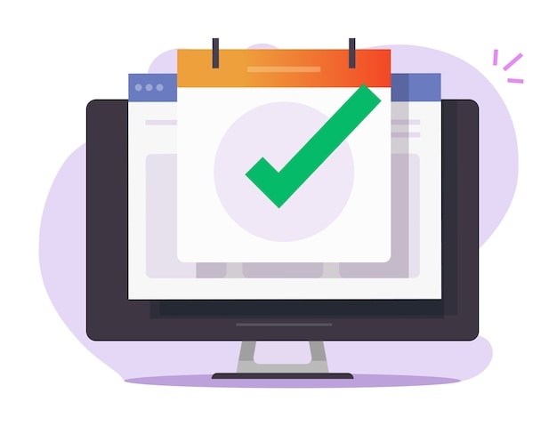 Geplande afspraakafspraakdatum op online kalender