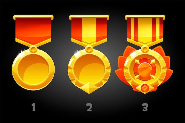 Gerangschikte rode medailles voor het verbeteren van het spel