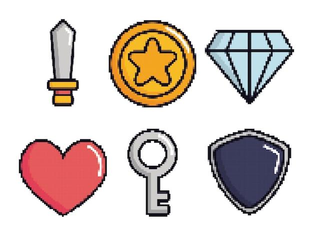 Gerelateerde iconen van retro-videogames