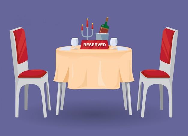 Gereserveerde tabel voor twee illustraties