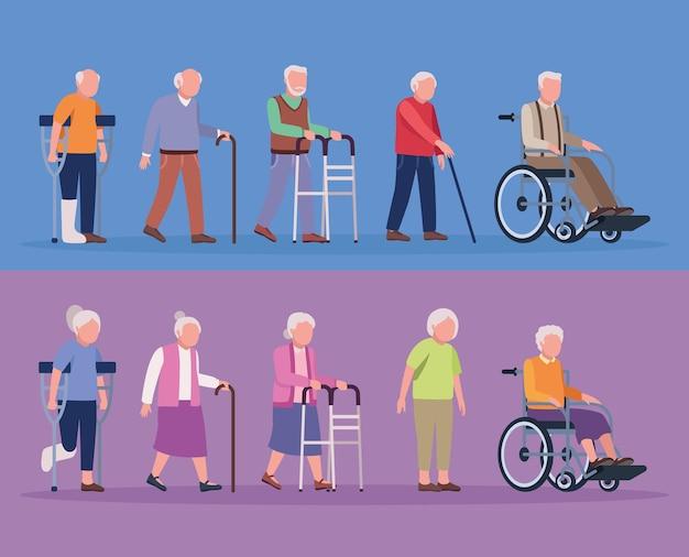 Geriatrie tien oude personen
