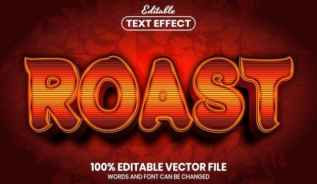 Geroosterde tekst, bewerkbaar teksteffect in lettertypestijl