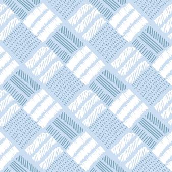 Geruit bleek kleuren vector naadloos patroon