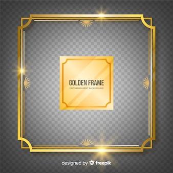 Geruit realistisch gouden frame