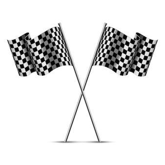 Geruite race vlaggen