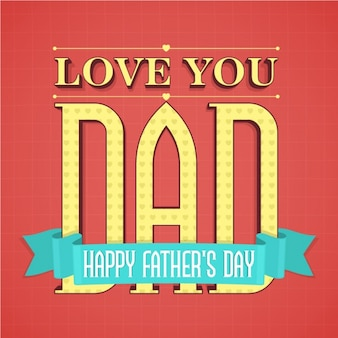 Geruite rode achtergrond met blauw lint voor vaderdag