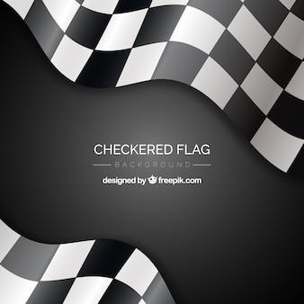 Geruite vlag achtergrond