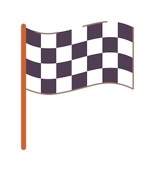 Geruite vlag rijschool symbool geïsoleerd op wit