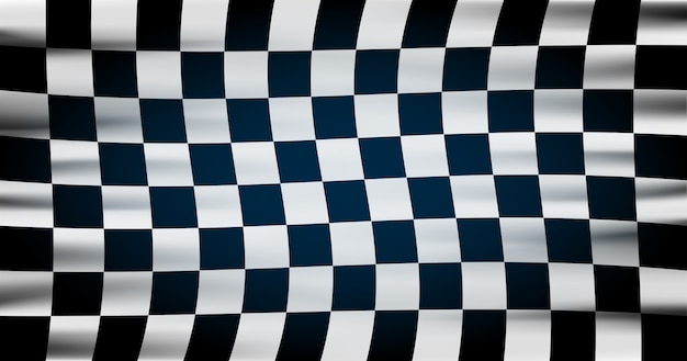 Geruite vlag voor autoraces of rallyclub