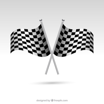 Geruite vlaggen met realistische stijl