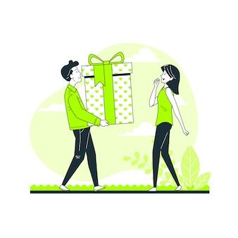 Geschenk concept illustratie