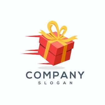 Geschenk logo ontwerp vector illustrator