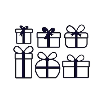 Geschenk vector pictogram. illustratie ontwerp