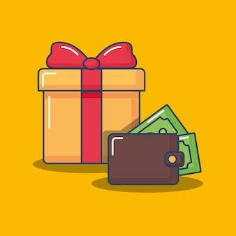 Geschenkdoos en portemonnee