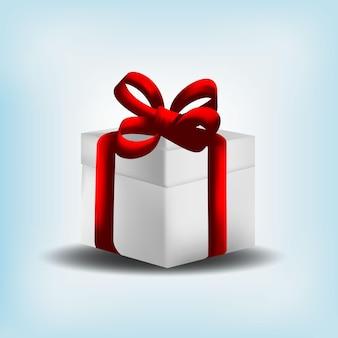 Geschenkdoos kerst realistische vector
