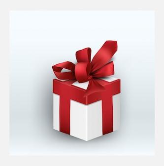 Geschenkdoos met rood lint