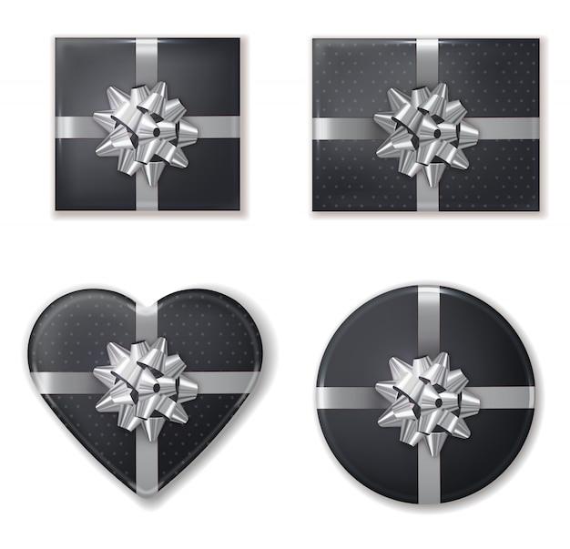 Geschenkdoos set zwart en zilver