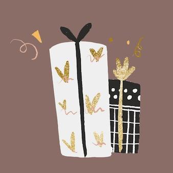 Geschenkdoos sticker, viering illustratie vector