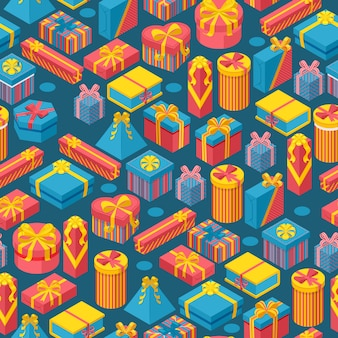 Geschenkdozen in naadloos patroon