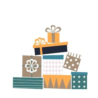 Geschenkdozen instellen. vector-elementen voor uw ontwerp.