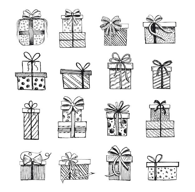 Geschenkdozen set handgetekende illustraties