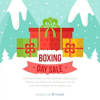 Geschenken boksen dag verkoop achtergrond