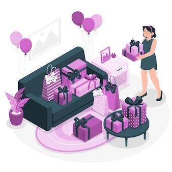 Geschenken concept illustratie