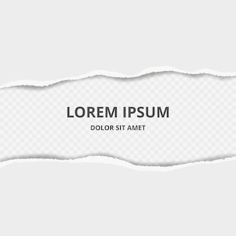 Gescheurd papier achtergrond. decoratief met gebroken papierranden met scheurt vectormalplaatje