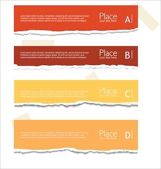 Gescheurd papier achtergrond met ruimte voor tekst