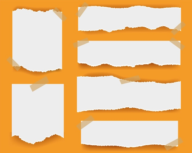 Gescheurd papier geïsoleerd op oranje