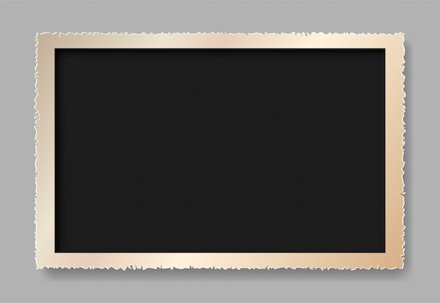Gescheurd papier is een fotolijst