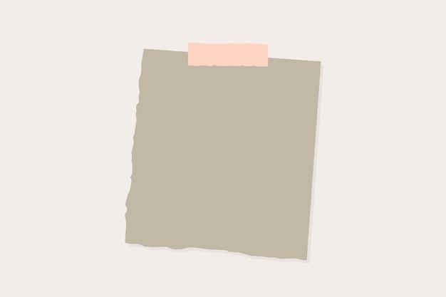 Gescheurd papier notitie