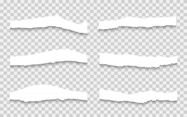 Gescheurd papier set vector, gelaagd.