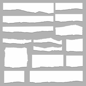 Gescheurd papier set vector, gelaagd
