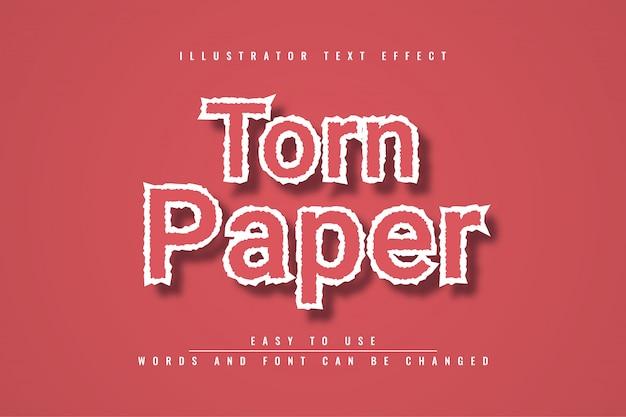 Gescheurd papier teksteffect