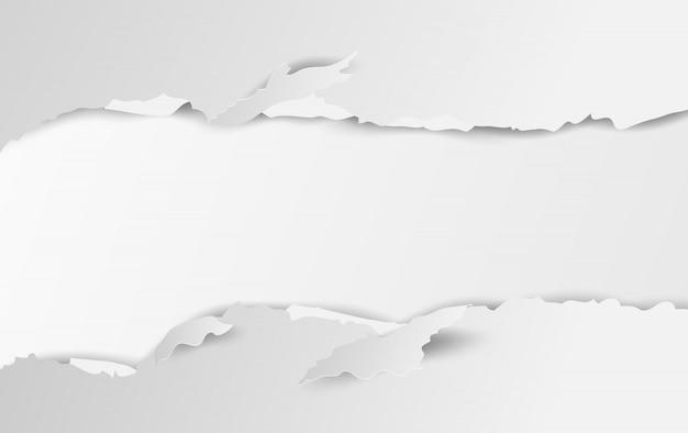 Gescheurd papier witte achtergrond.