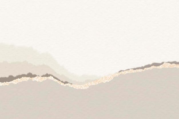Gescheurde bruine notitie papieren sjabloon Gratis Vector