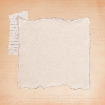 Gescheurde oude beige papier achtergrond