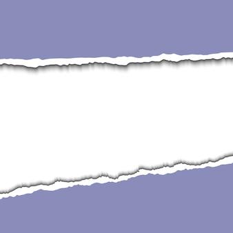 Gescheurde papier illustratie geïsoleerd op wit