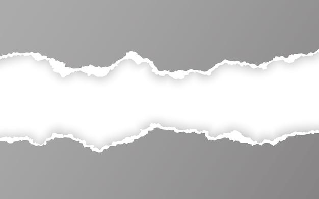 Gescheurde vierkante horizontale papieren stroken