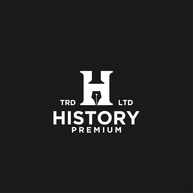 Geschiedenis pen vector logo ontwerp