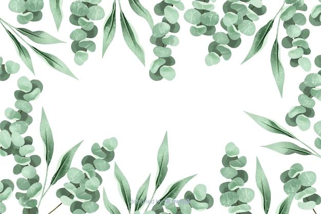 Geschilderd bladerenframe abstracte achtergrond