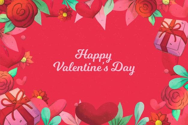 Geschilderd valentijnsdag behang