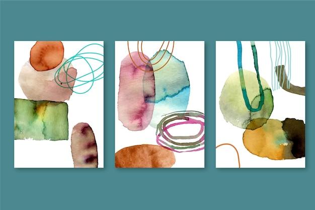 Geschilderde aquarel vormen covers pack