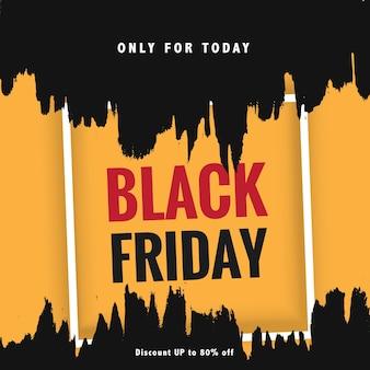 Geschilderde banner voor zwarte vrijdag
