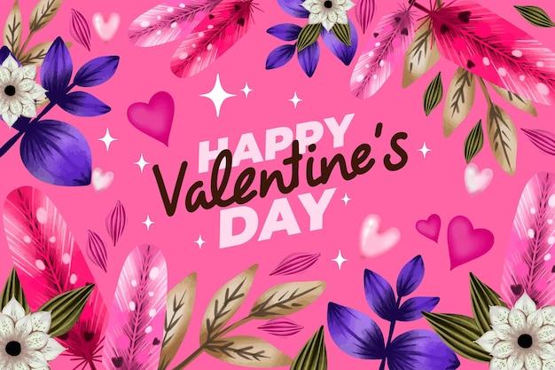 Geschilderde valentijnsdag achtergrond